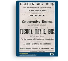 Electrical Men, 1902 Canvas Print