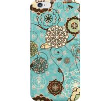 Cute Abstract Retro Floral Pattern iPhone Case/Skin