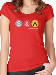 Scharf&Waldon in Black Women's Fitted Scoop T-Shirt