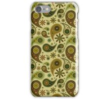 Pastel Brown ANd Beige Tones Retro Paisley Pattern iPhone Case/Skin