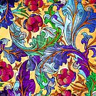 Colorful Elegant Retro Floral Design by artonwear