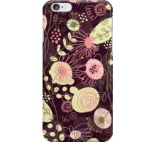Cute Abstract Retro Floral Pattern Pastel Tones iPhone Case/Skin