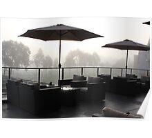 Sunrise through the mist - 1 Poster