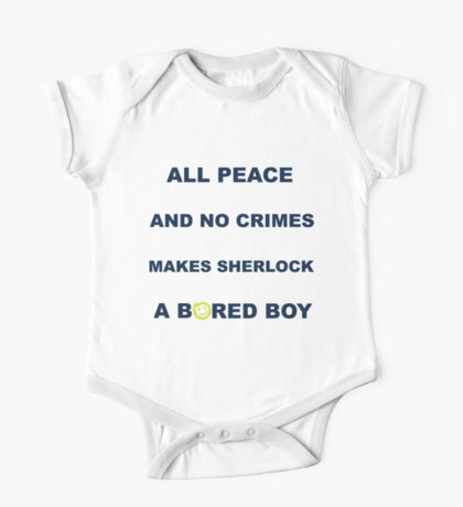 All peace and no crimes makes Sherlock a bored boy. One Piece - Short Sleeve