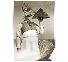 giraffe waiter Poster