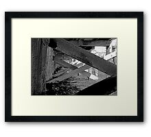 Beneath the docks. Pencil-sketch format Framed Print