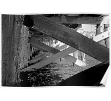 Beneath the docks. Pencil-sketch format Poster