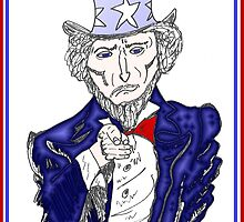 Uncle Sam Wants YOU to HIRE U.S. caricature by Binary-Options