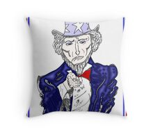 Uncle Sam Wants YOU to HIRE U.S. caricature Throw Pillow