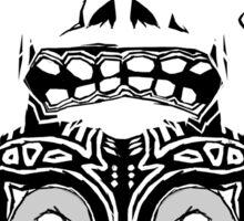 Majora's mask - Black Sticker