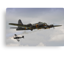 Memphis Belle and Snafu Canvas Print