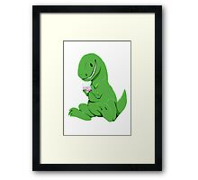 Rex playing the DS Framed Print