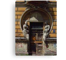 Derelict Art Nouveau Doorway Canvas Print