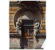 Derelict Art Nouveau Doorway Poster