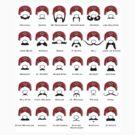 mario mustaches by cactus80