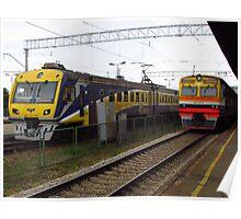 Latvian Trains Poster