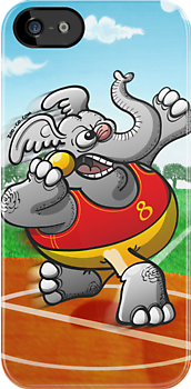 Olympic Shot Put Elephant by Zoo-co
