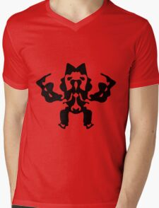 Monster Robot Mens V-Neck T-Shirt