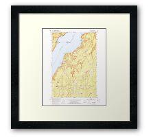 USGS Topo Map Washington State WA Holly 241554 1953 24000 Framed Print