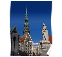 Town Hall Square, Riga Poster