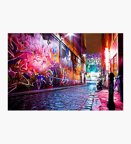 Art shines brightest in the dark Photographic Print