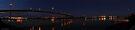 westgate bridge at night super wide panorama 001 by Karl David Hill