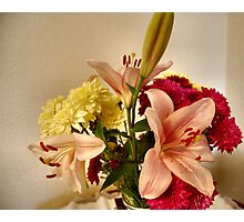 FLOWERS ON MY TABLE. 1 Photographic Print