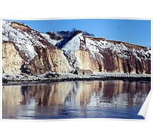 """""""Icing  Sewerby cliffs"""" Poster"""