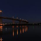 westgate bridge at night super wide panorama 001 (middle panel) by Karl David Hill