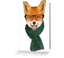 Hipster Fox Greeting Card