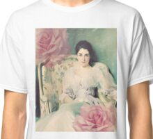 John Singer Sargent - Lady Agnew with Rose Overlay Classic T-Shirt