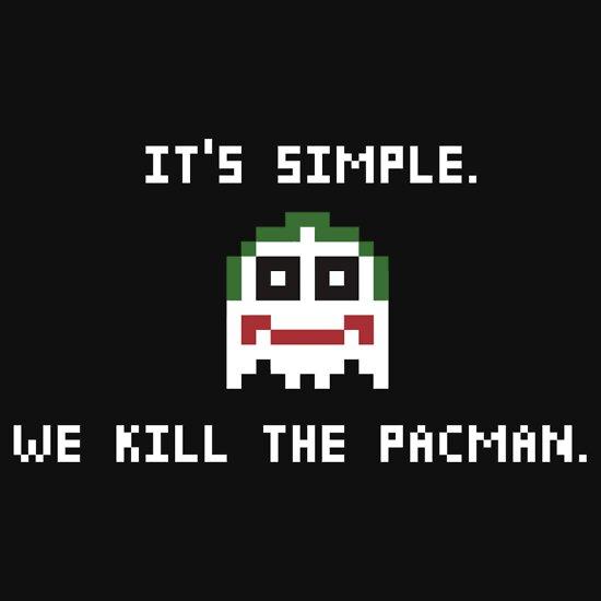 we kill the pacman a tshirt of geek nintendo batman 8
