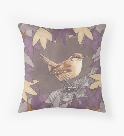 A House of Twigs & Leaves Throw Pillow