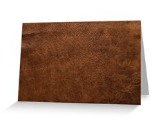 leather Style Limited Edition Notebook and Iphone skin Greeting Card