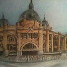 Flinders street station by Ongie