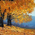 Golden Fall Trees by Graham Gercken