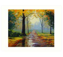 Wet Autumn Day Art Print