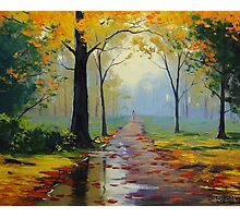 Wet Autumn Day Photographic Print