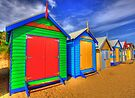 BRIGHTON BEACH HUTS by FLYINGSCOTSMAN