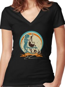 Rise of the robot Women's Fitted V-Neck T-Shirt