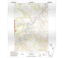 USGS Topo Map Oregon OR Troy 281881 1995 24000 Poster