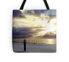 """""""Sunburst in the Snow""""  Tote Bag"""