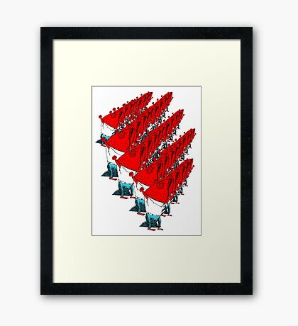Fish Marching Framed Print