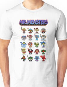 Mr Mensters of the Universe (Back of Box) Unisex T-Shirt