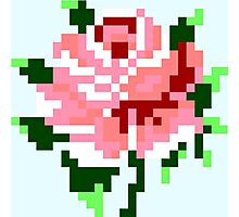 Pixel Rose Photographic Print