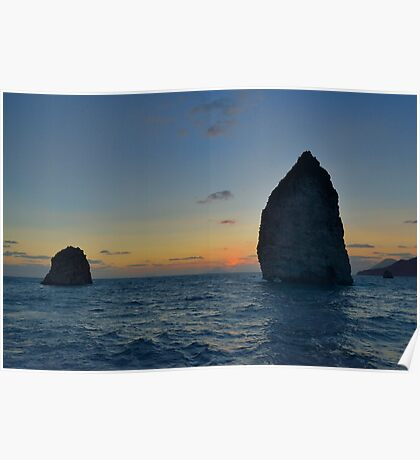 Aeolian sunset  Poster