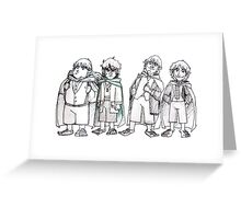 Four of Nine companions Greeting Card
