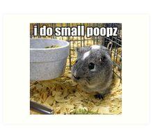 lolz Poopz Hamster Art Print