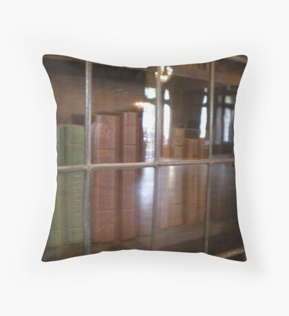 GLASSED BOOKS Throw Pillow