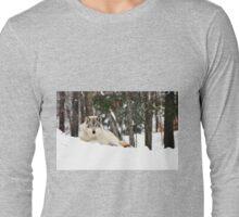 I am watching you - Timber Wolf Long Sleeve T-Shirt